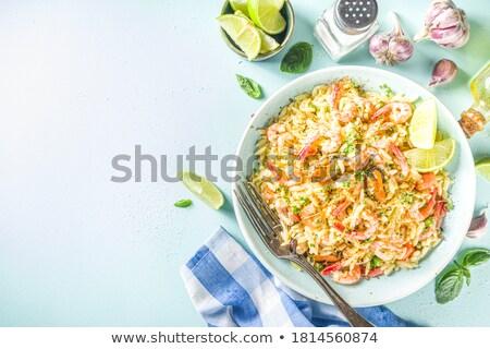 Stock fotó: Paella With Shrimp