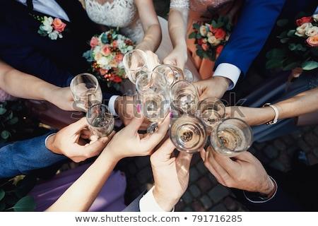 Stockfoto: Familie · groep · bruiloft · liefde · vrouwen · gelukkig