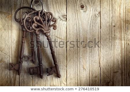 большой старые ключевые деревянный стол Церкви дома Сток-фото © Kayco