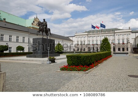 Presidencial palácio leão estátua cidade Varsóvia Foto stock © FER737NG