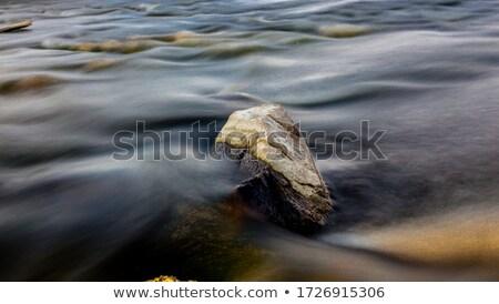 Hegy folyó nyár hosszú expozíció folyik kövek Stock fotó © Mikko