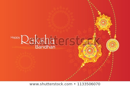 Vector Indian festival Raksha Bandhan rakhi background  Stock photo © bharat