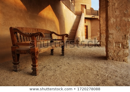 Old Fort and benches stock photo © feelphotoart