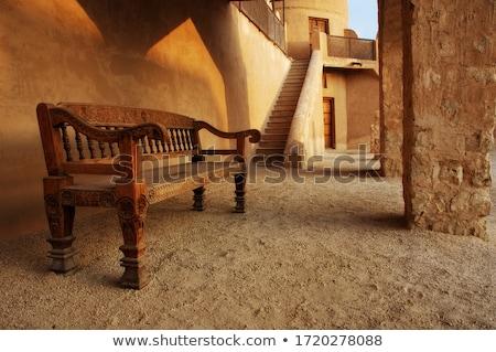 Сток-фото: старые · форт · три · крепость · фары · закат