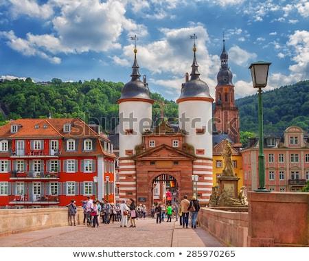 bridge and town gate of Heidelberg, Germany  Stock photo © meinzahn
