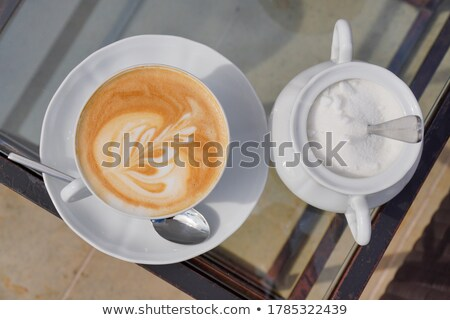 Relaxing break time with hot caffe mocha Stock photo © punsayaporn