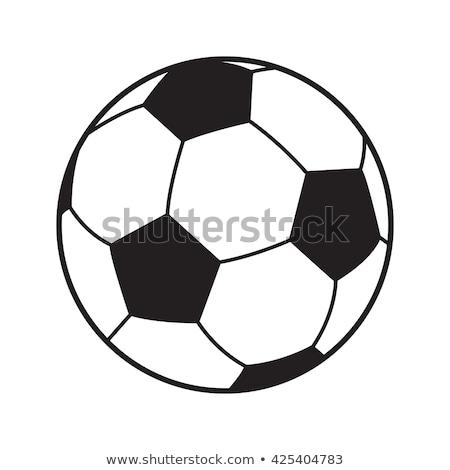 Futebol mapa do mundo preto e branco futebol branco Foto stock © make