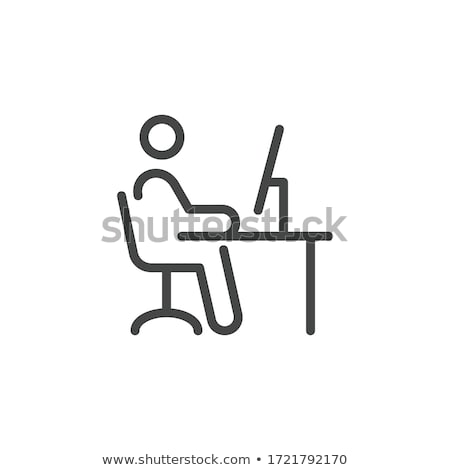 Buisnessman siting on a office chair Stock photo © gemenacom