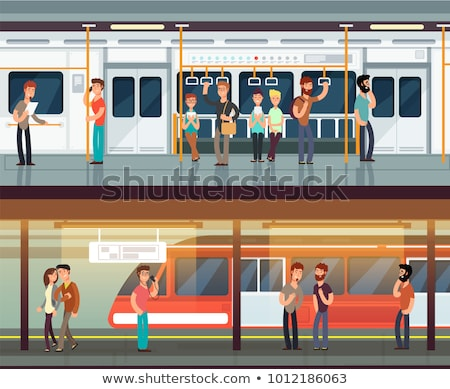 Stock photo: People at subway station