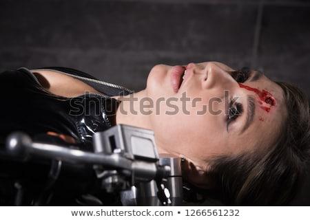 Kafa kurşun profil siluet adam eps8 Stok fotoğraf © polygraphus