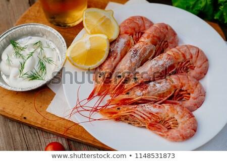 grillés · homard · queue · servi · sauce · isolé - photo stock © m-studio