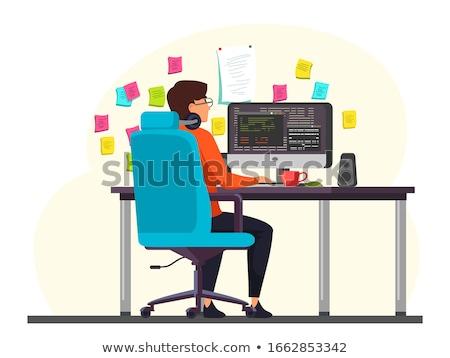 Desktop рабочая станция месте бизнеса книга кофе Сток-фото © tracer