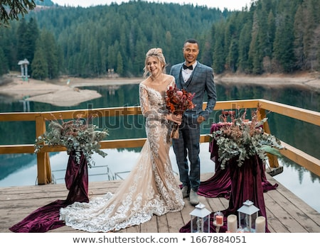 жених · ждет · невеста · красивой · свадьба · пару - Сток-фото © jeliva