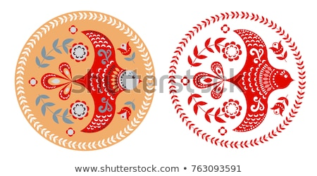 Indian bird motifs Stock photo © morrmota