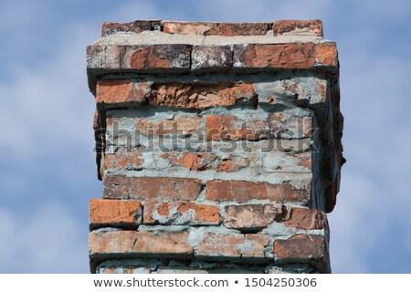 古い レンガ 煙突 屋根 カバー 雪 ストックフォト © stevanovicigor