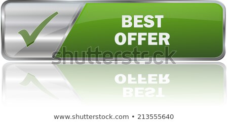 best offer green vector icon button stock photo © rizwanali3d