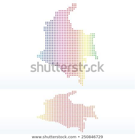 Mapa república Colômbia ponto padrão vetor Foto stock © Istanbul2009