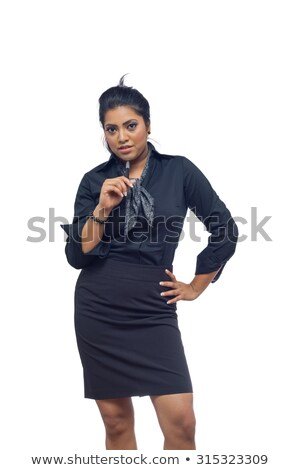 Foto stock: Mujer · empate · nina · sexy · desnuda · fondo