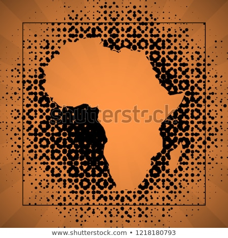 Map of Republic South Africa with Dot Pattern Stock photo © Istanbul2009