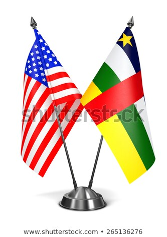 USA and Central African Republic - Miniature Flags. Stock photo © tashatuvango