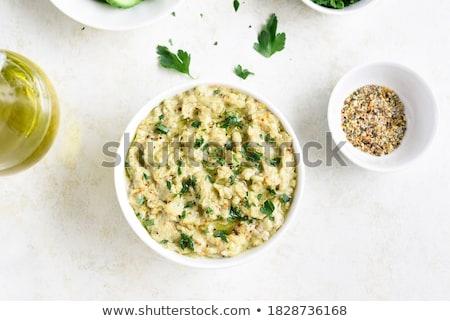 Berenjena berenjena hortalizas blanco fondo color Foto stock © ozaiachin