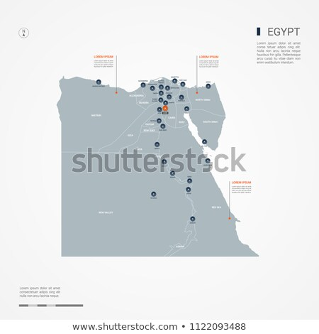 orange button with the image maps of egypt stock photo © mayboro