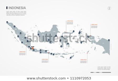 Laranja botão imagem mapas Indonésia forma Foto stock © mayboro