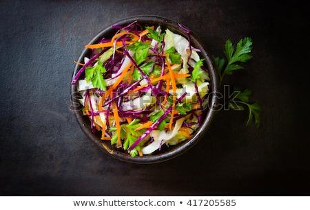 insalata · verdure · fresche · cavolo · carote · cucina - foto d'archivio © Tatik22