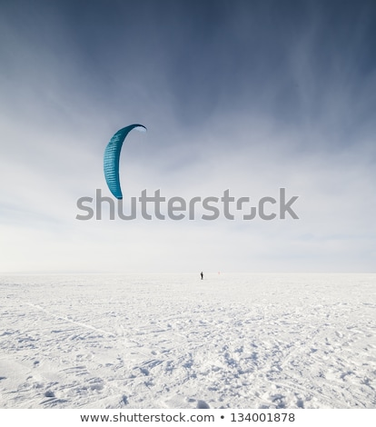Kiteboarder with kite on the snow Stock photo © H2O