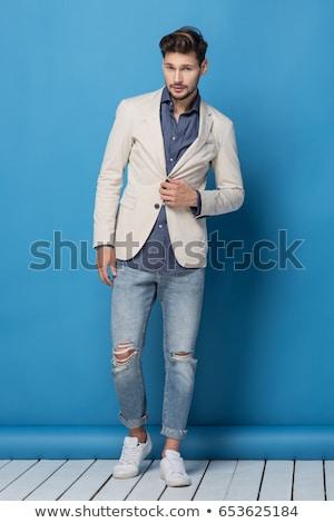 портрет моде человека закат модель молодые Сток-фото © carloscastilla