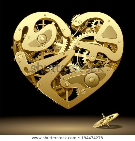 Serca narzędzi kółko narzędzi czasu Zdjęcia stock © kovacevic