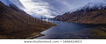 Felvidék tájkép Skócia kilátás nap utazás Stock fotó © photopb