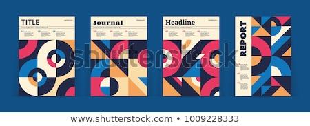 Retro pattern of geometric shapes. Stock photo © balabolka