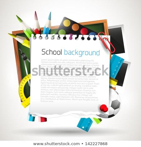 iskola · tanár · iskolás · zöld · pulóver · szürke - stock fotó © carodi