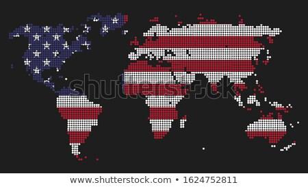 Világ uralom piros király sok szürke Stock fotó © grechka333
