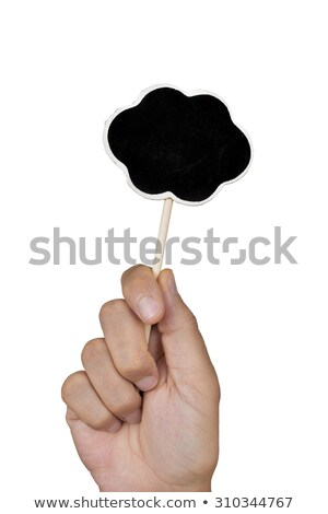 Hombre forma burbuja de pensamiento primer plano mano Foto stock © nito