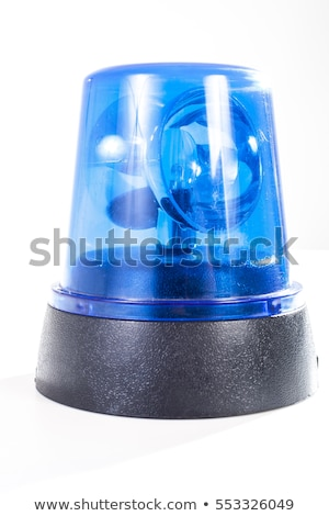 Sirene blue flasher on a white background.  Stock photo © mcherevan