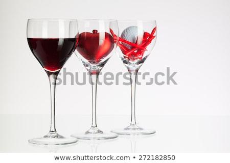 wina · serca · wino · czerwone · odizolowany · biały - zdjęcia stock © capturelight