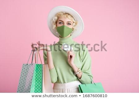 pretty lady and mask stock photo © fouroaks
