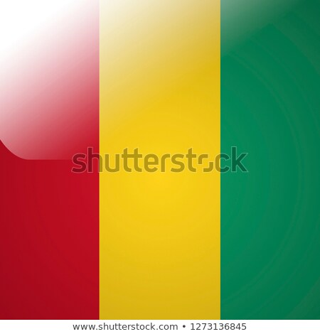 Adesivo bandeira Guiné isolado branco viajar Foto stock © MikhailMishchenko