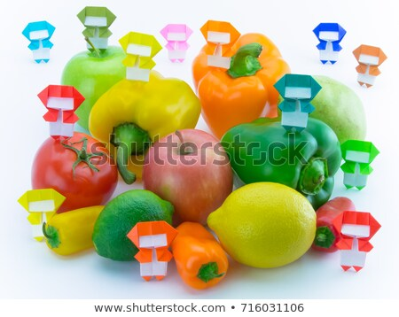 origami · ninja · legumes · frutas · colorido · jogar - foto stock © user_9323633