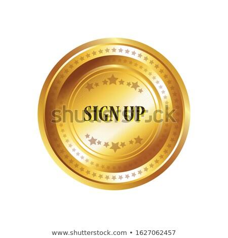 Para cima chave vetor ouro ícone web Foto stock © rizwanali3d