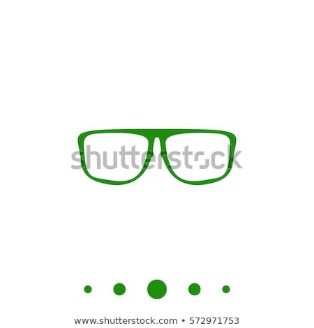 зрелище зеленый вектора икона кнопки интернет Сток-фото © rizwanali3d