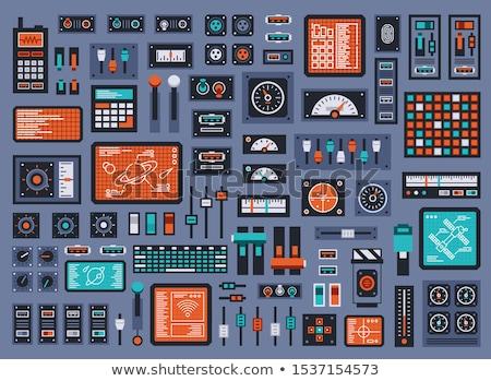 Irányítópanel modern ipari munka billentyűzet piros Stock fotó © c12