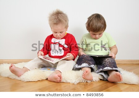 children looking books wire family is my drawing stock photo © paha_l