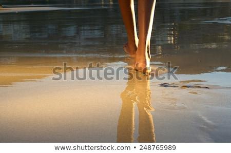 güzel · kız · adım · ileri · moda · vücut - stok fotoğraf © Paha_L