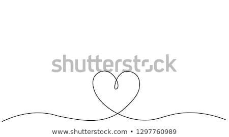 Grafikus szívek vonal illusztráció bár szeretet Stock fotó © madelaide