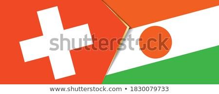 Швейцария Нигер флагами головоломки изолированный белый Сток-фото © Istanbul2009
