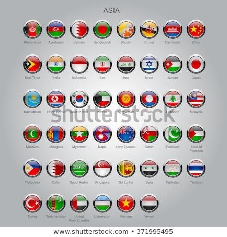 Zászló gomb összes országok Japán felirat Stock fotó © shutswis