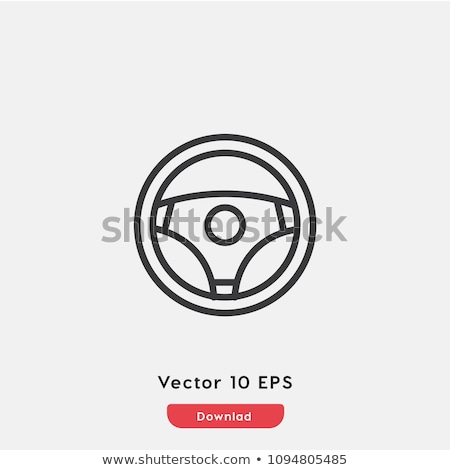 Steering wheel line icon. Stock photo © RAStudio